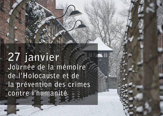 27 janvier - Journée de la mémoire de l'Holocauste et de la prévention des crimes contre l'humanité - nagłówek - Francuski przy kawie