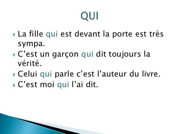 Zaimki względne proste - zaimek QUI 1 - Francuski przy kawie