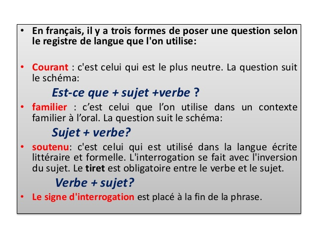 Zdania i pytania - zadawanie pytań 7 - Francuski przy kawie