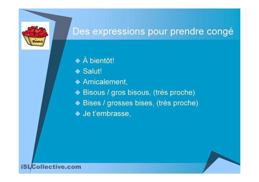 List formalny i nieformalny - zakończenie listu - Francuski przy kawie