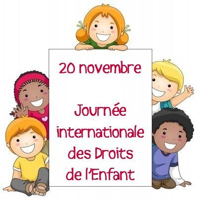 20 Novembre - La Journée nationale des droits des enfants - nagłówek - Francuski przy kawie